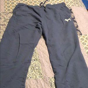 Victoria's Secret blue sweatpants size large